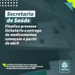 Secretaria de Saúde de Três Rios finaliza processo licitatório e entrega de medicamentos começa em abril