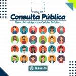 Prefeitura abre consulta pública sobre Plano Municipal de Coleta Seletiva