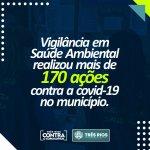 Vigilância em saúde ambiental realizou mais de 170 ações contra a covid-19