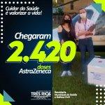 Covid-19: Três Rios recebe 2.420 doses do imunizante AstraZeneca