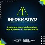 Três Rios realiza repescagem para profissionais da educação que não foram vacinados nas escolas