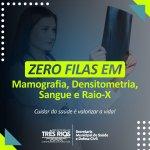 Prefeitura de Três Rios zera fila de espera por exames de mamografia, densitometria, sangue e raio-x